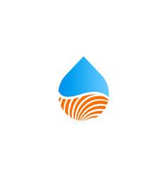 droplet bio eco logo vector image