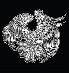 Eagle bird wing annimal usa america vector