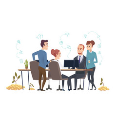 effective business team people group create a vector image