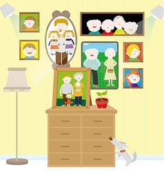 Family photo wall vector