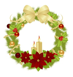 Fir wreath 0311 02 vector