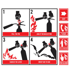 fire fighting technical vector image