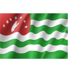 Flag of republic of abkhazia vector