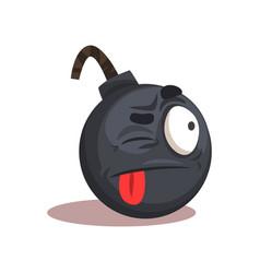 flat design bomb emoji face vector image