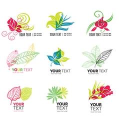 Flower logo 4 vector