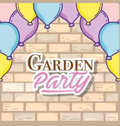 Garden party card vector