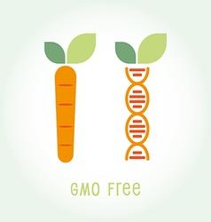 Genetically Modified Organisms GMO FREE emblem vector