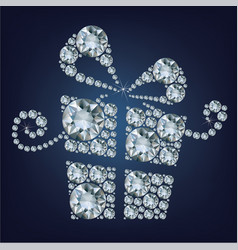 gift present made up a lot of diamonds vector image