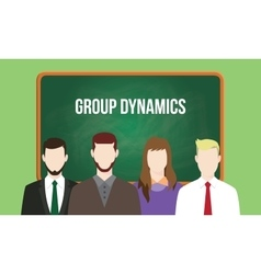 Group dynamics concept in a team with vector