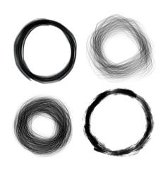Hand drawn painted grunge circles design el vector