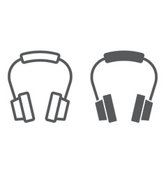 headphones line and glyph icon earphone vector image