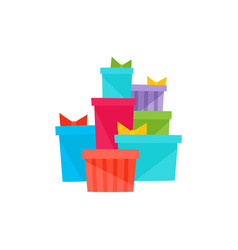 heap pile of christmas birthday gifts presents vector image