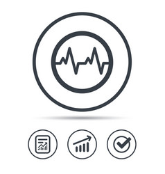 Heartbeat icon cardiology symbol vector