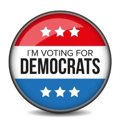 I am voting for Democrats - election badge vector