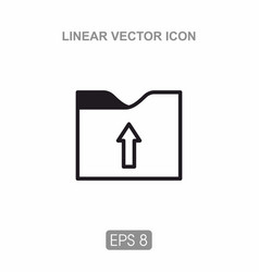 icon folder for documents vector image