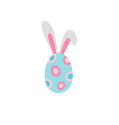 ine icon easter egg with rabbit ears vector image