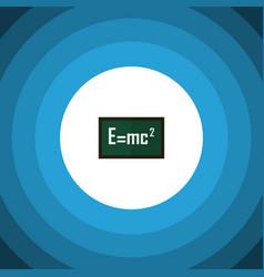 isolated formula flat icon theory of relativity vector image