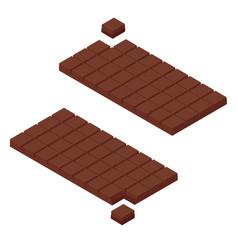 isometric chocolate bars vector image