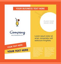juice glass company brochure template busienss vector image