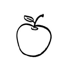 Juicy apple fruit vector