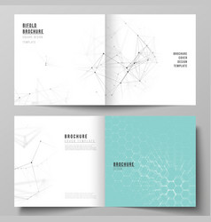 layout of two covers templates for square vector image