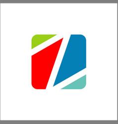 Letter z icon logo application square shape vector