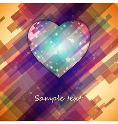 Love symbol Light straight lines abstract vector