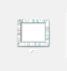 marble frame isolated on white background vector image