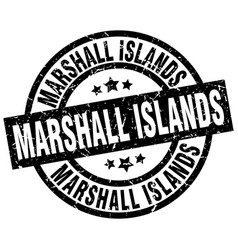 marshall islands black round grunge stamp vector image