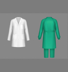 Medical uniform for surgeon doctor or nurse vector