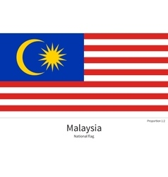 national flag malaysia with correct proportions vector image