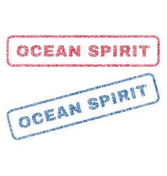 Ocean spirit textile stamps vector