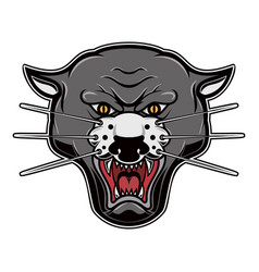 Pantera head on white background design element vector