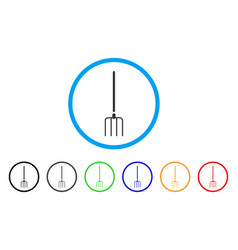 pitchfork rounded icon vector image vector image