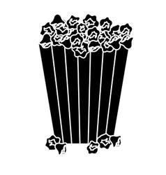 Popcorn bucket icon vector