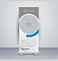 Professional roll up stand banner design 1 vector