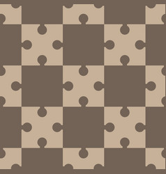 Puzzle regular seamless pattern vector
