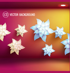 realistic beautiful floral template vector image