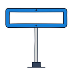 rectangle road traffic sign icon in outline vector image
