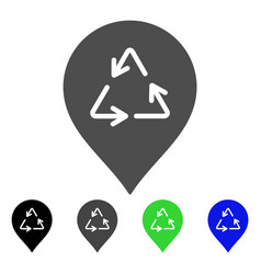 recycling marker flat icon vector image