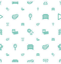 Reflection icons pattern seamless white background vector