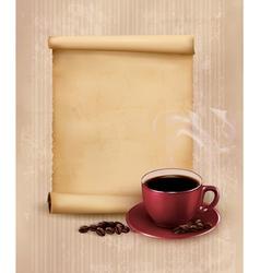 Retro Menu for restaurant Coffee design template vector image