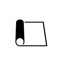 Rolled sheet paper flat icon vector