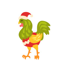 Rooster symbol of new year cute animal of chinese vector