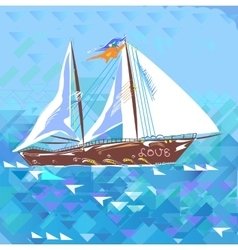 Sailboat Love And Romantic vector image