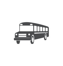 school bus public transport symbol design vector image