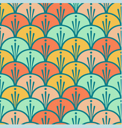 Seamless scales colorful pattern vector