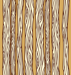 seamless texture with doodle tree trunks element vector image