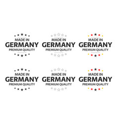 set six german icons made in germany symbols vector image