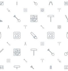 Shovel icons pattern seamless white background vector